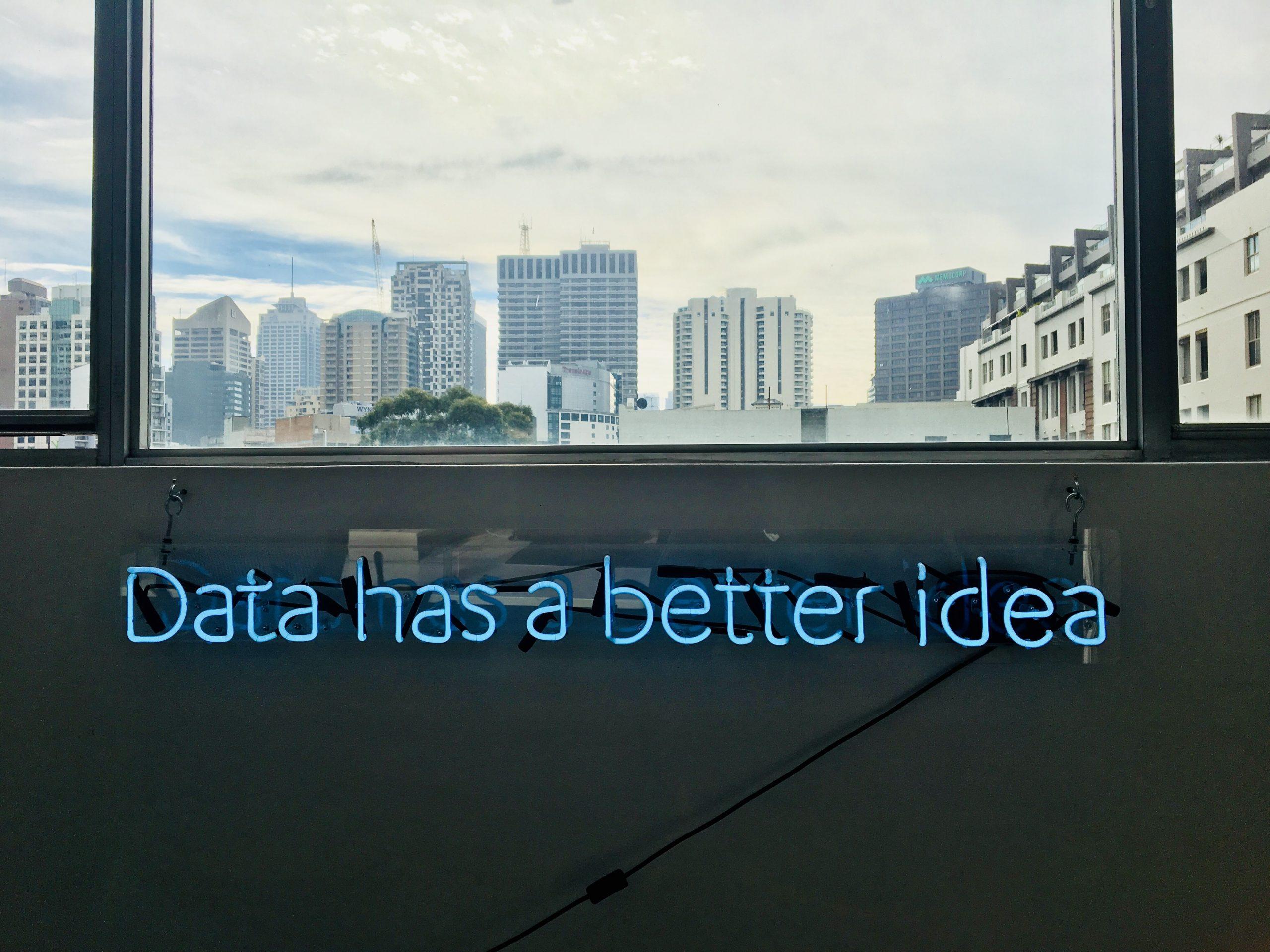 I dati hanno sempre un'idea migliore